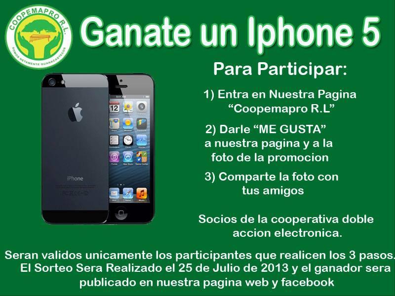 Ganate un Iphone 5 con Coopemapro RL
