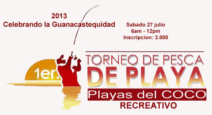 Torneo de Pesca Recreativa en Playas del Coco