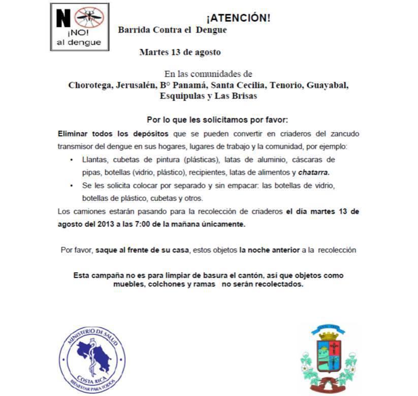 Ministerio de Salud anuncia gran barrida contra el Dengue en Santa Cruz