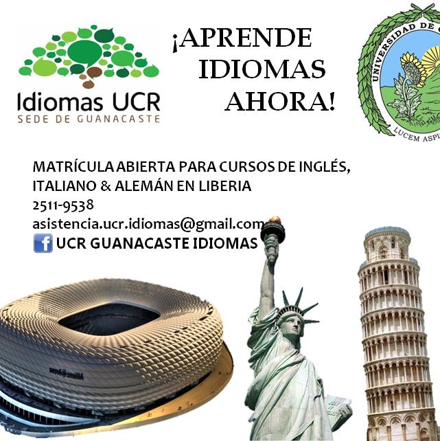 UCR sede Guanacaste habre cursos libres de idiomas en Inglés, Italiano y Alemán