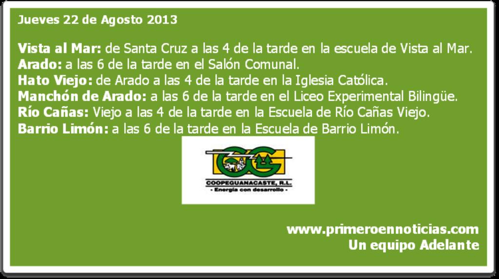 Coopeguanacaste, R.L. les invita a participar en las asambleas regionales de elección de delegados