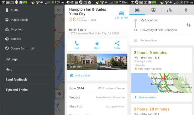 Google Maps se actualiza en Android con publicidad de hoteles y mejoras en la navegación