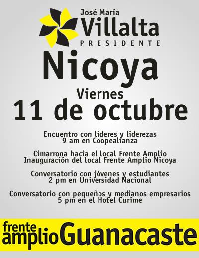 [Audio] Candidato a la Presidencia Jose María Villalta tendrá dialogo ciudadano, con los Habitantes de Nicoya