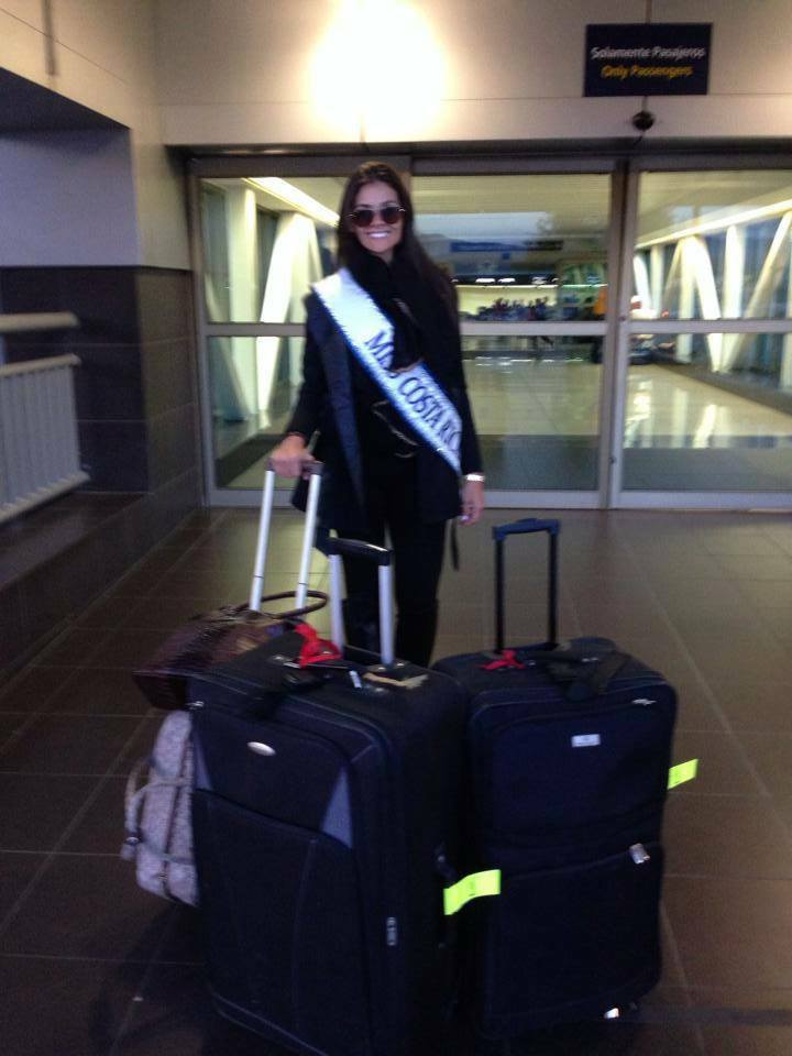 Fabiana Granados ya arribó a Rusia; Guanacasteca participará del Miss Universo 2013