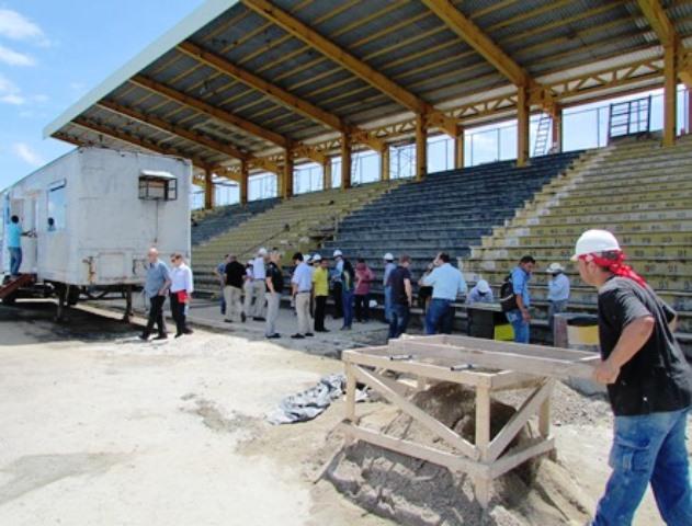 Avance en obras en el Estadio de Liberia, satisface al Comité Organizador