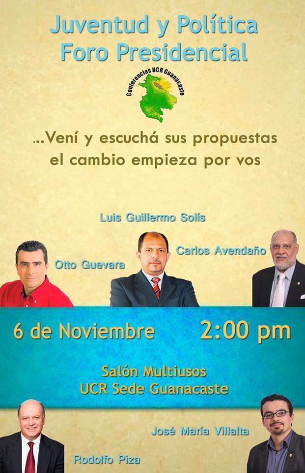 Comunidad Estudiantil de la UCR Sede Guanacaste, organizará debate presidencial
