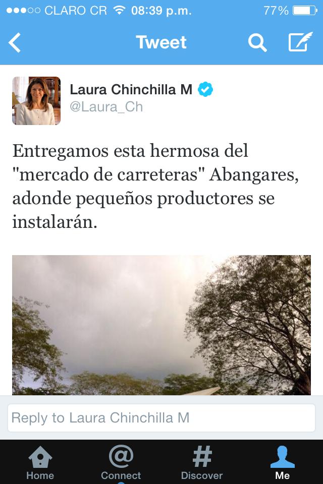 Laura Chinchilla Inaugura Mercado de Carreteras en Abangares Guanacaste